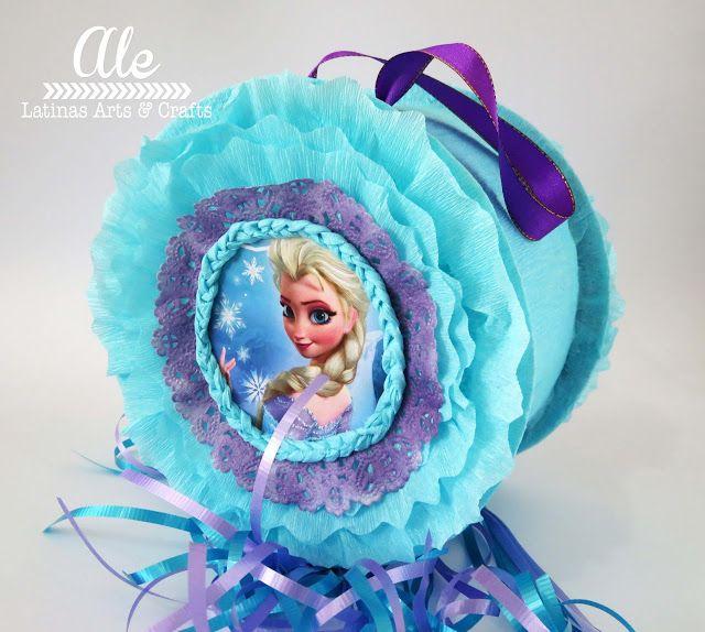 Latinas Arts and Crafts: Crop On Line: Piñata tambor con hilos