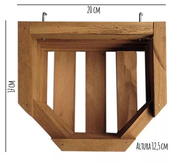 kit 10 cachepôs móvel p floreira, horta vertical madeira lei