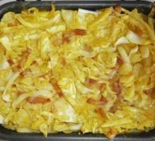 Recette - Cannelloni au chou blanc et lardons -
