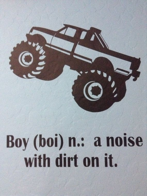 "20"" Boy Monster Truck Decor"