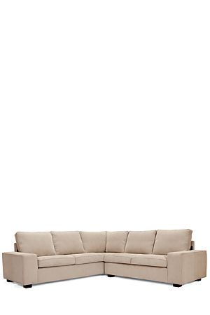 """With simple, clean lines and a compact urban style, the Downtown Cameo Corner Unit gives you a great seating arrangement for a formal lounge or TV room. Upholstered in soft polyester with a corduroy finish, this sofa seats 5-6 people.<div class=""""pdpDescContent""""><ul><li> Corduroy</li><li> Chipboard and pine frame with spring support for extra comfort. </li><li> Removable, washable coverings</li><li> No assembly required, just puff and position cushions</li></ul></div><div…"""