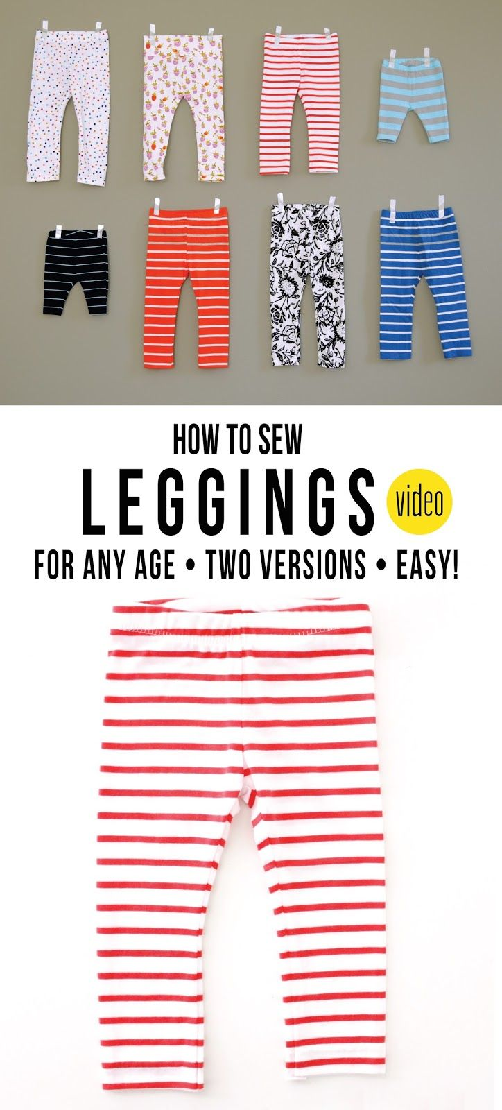 How to sew a Pair of Leggings, for any age… – MADE EVERYDAY