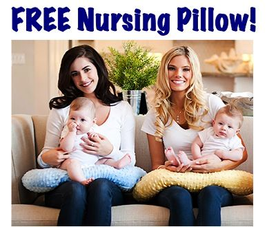 FREE Nursing Pillow and other great free stuff for baby!  Apparently you just have to pay shipping.