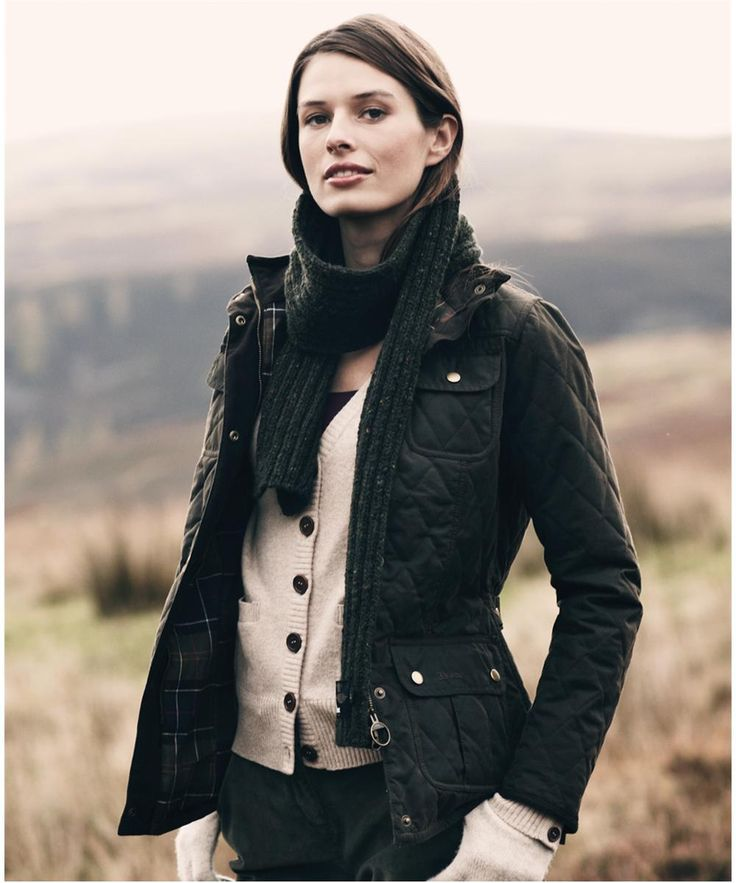 Barbour quilted jacket women