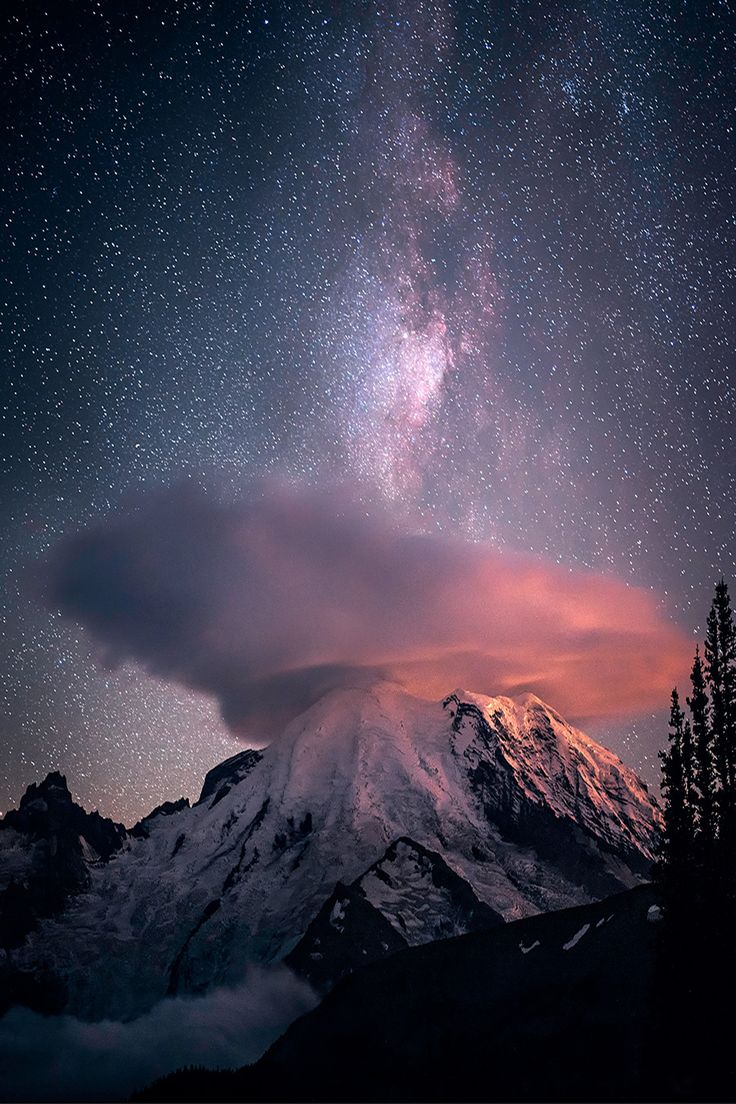 Let's Watch Likes — souhailbog:  Milky Way Mt Rainier |  © Copyright |...