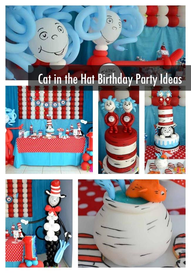 Cat in the Hat First Birthday Party - Spaceships and Laser Beams