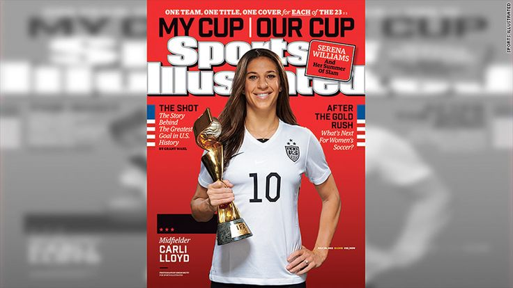 Sports Ilustrated honoring each women's soccer player with own cover
