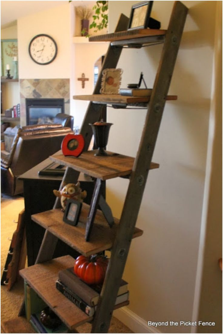 Best 25 old ladder ideas on pinterest old ladder decor for Old wooden ladder projects