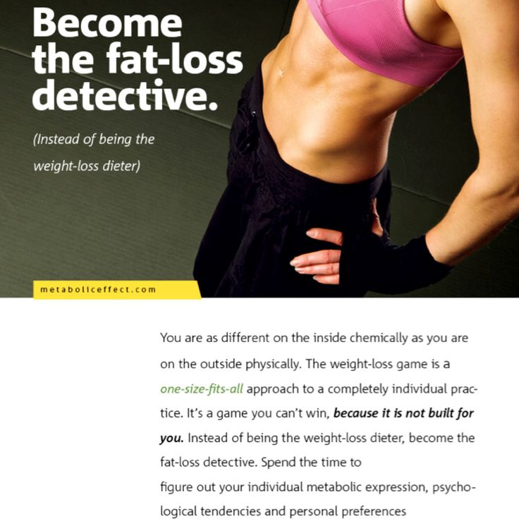 Lose weight one week not next