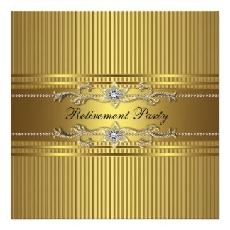 Best 25 retirement invitation template ideas on pinterest custom elegant gold stripe retirement party custom invite created by corporatecentral this invitation design is available on many paper types and is toneelgroepblik Images