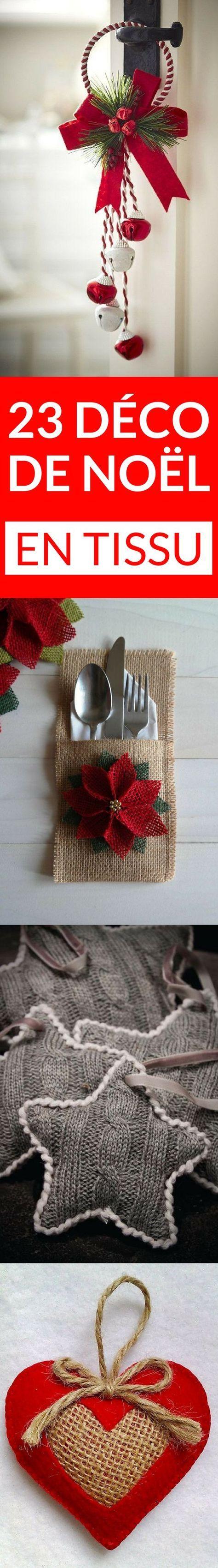 Plein d'idées pour fabriquer sa décoration de Noël en tissu !