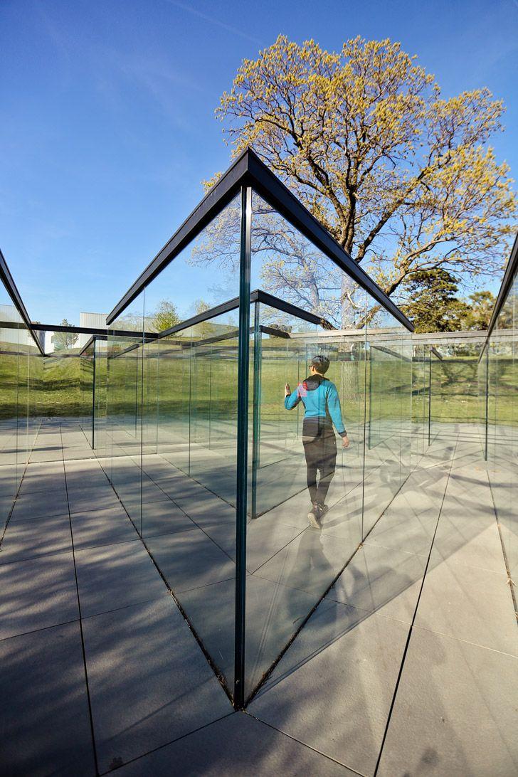 Glass Labyrinth - Outdoor Maze of Glass - Nelson Atkins Museum of Art Kansas City // localadventurer.com