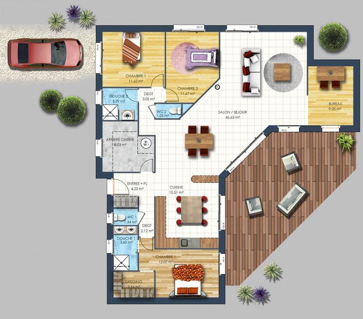 Les 25 meilleures id es de la cat gorie plans de maison for Maison moderne simple