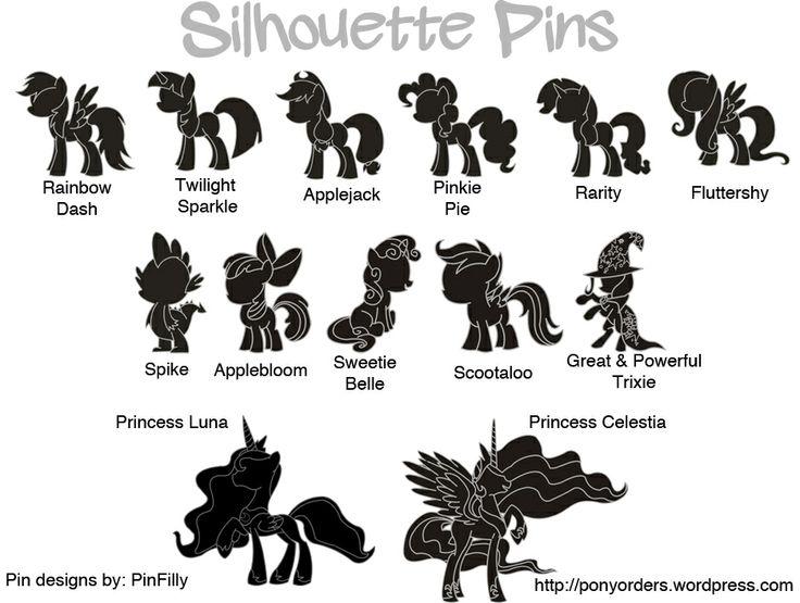 Pony silhouettes