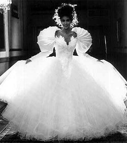 NEVER! - But what was these brides thinking? 80's bride - Google Search