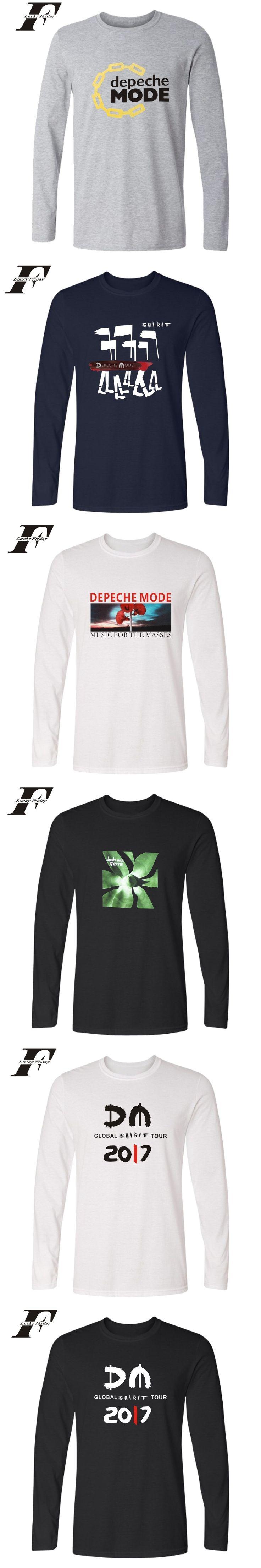Depeche Mode funny t shirts Long Sleeve fitness T shirt The UK men clothing Spring t shirt summer Cotton camisa masculina 4xl