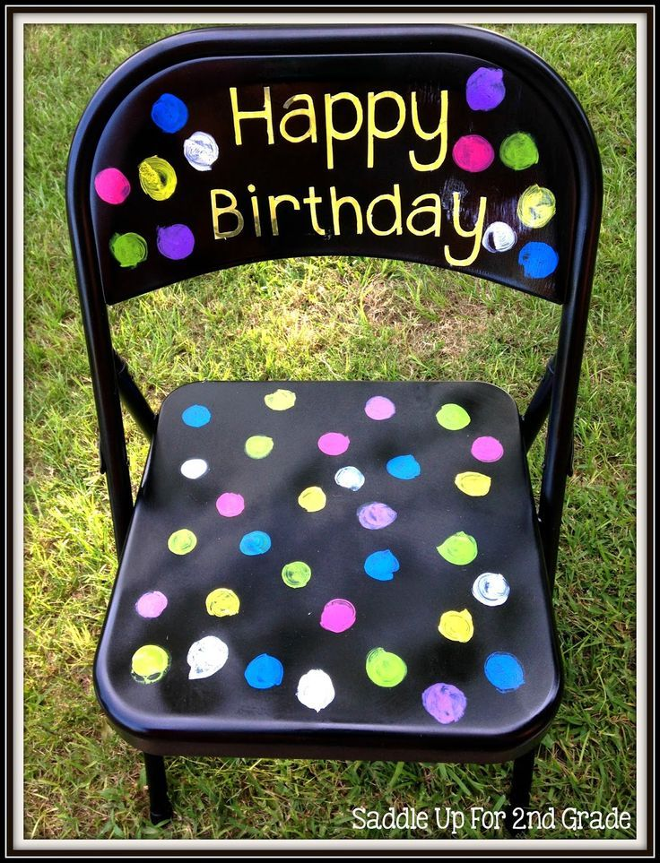 This birthday chair is a great way for your students to feel special on their birthday! It was very easy to create and a perfect way to recognize student birthday's in your classroom.