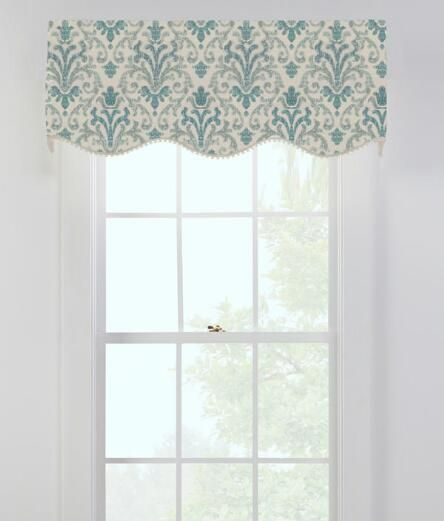 Venetian Brocade Lined Scalloped, Shaped Valances and Window Toppers - Country…