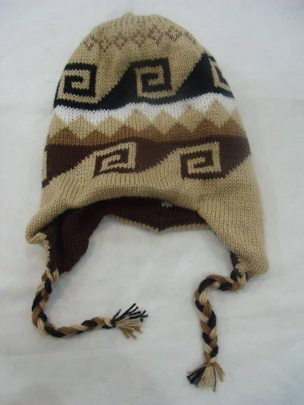 Gorro tipo peruano de lã Dupla face R$ 30,00  www.elo7.com.br/dixiearte
