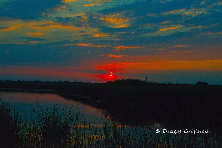 sunset in Delta Neajlovului