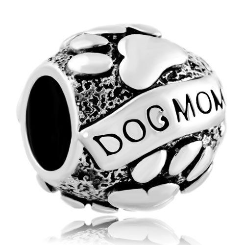Pugster Mother Daughter Dog Mom On Puppy Dog Paws Love Charm Bead Fits Pandora Bracelet - http://www.thepuppy.org/pugster-mother-daughter-dog-mom-on-puppy-dog-paws-love-charm-bead-fits-pandora-bracelet/