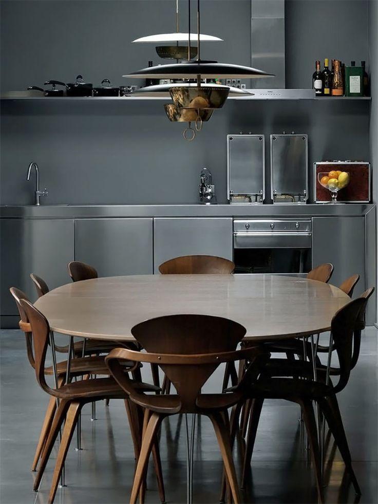 cozinha-cinza-com-mesa-redonda