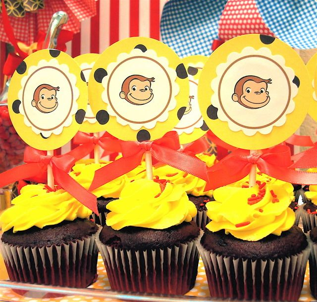 Best 20 curious george cupcakes ideas on pinterest for Anpanman cake decoration