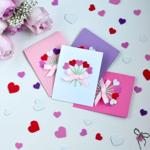 Kreative DIY-Liebeskarten, um einen anderen Valentinstag zu feiern