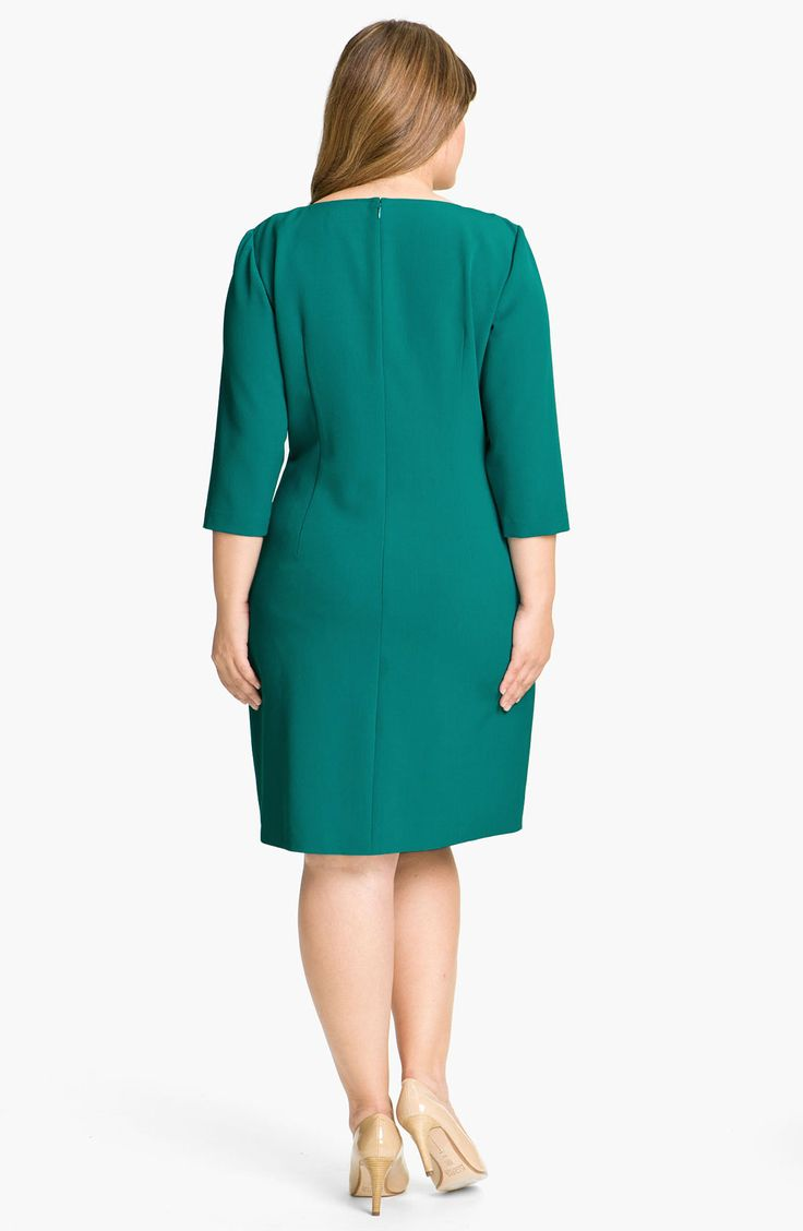 Free shipping and returns on Adrianna Papell Crochet Detail Sheath Dress (Plus) at Nordstrom.com. A panel of tonal floral crochet runs from the split neckline to the hem of a classic sheath cut with a curvy silhouette that follows the figure without flaunting everything.