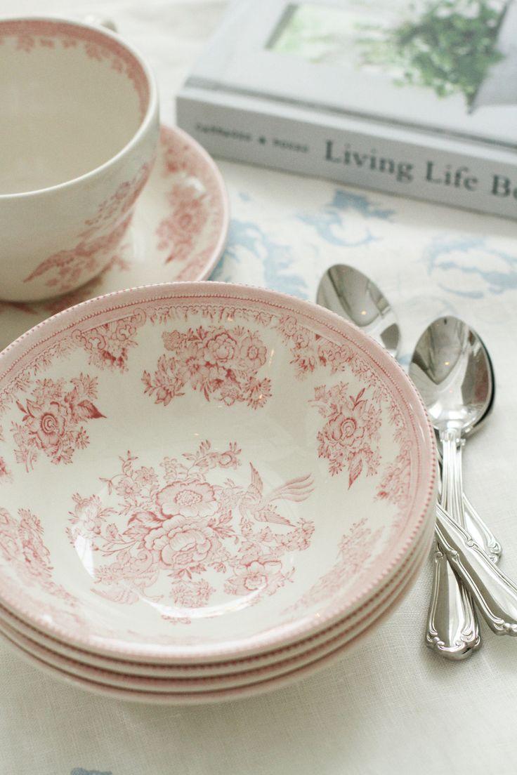 Burleigh Pottery | Pink Asiatic Pheasant Djup tallrik 16 cm | Matilde & Co |