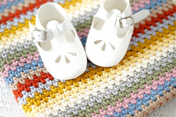 Edward Baby Blanket Crochet Pattern PDF by Little Doolally on Etsy - stripy, DIY, crochet, bright, modern