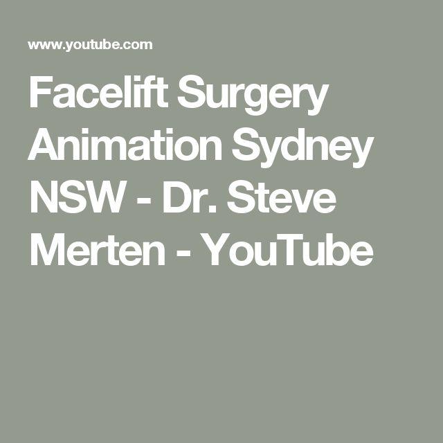 Facelift Surgery Animation Sydney NSW - Dr. Steve Merten - YouTube