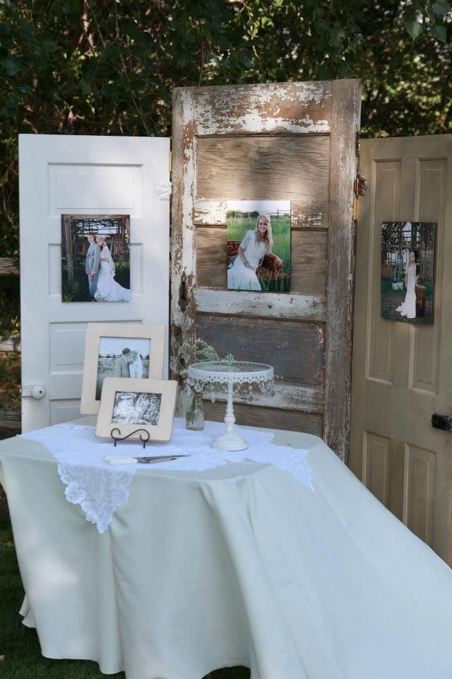 Throwback to a Vintage Wedding Celebration. Use old doors as a backdrop at your wedding reception– Kemley Design