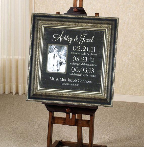 Important Dates Mr Mrs Sign Custom Wedding sign Special Dates Wedding Gift, Wedding Gift for Parents ( 16 X 16 ), $89.00