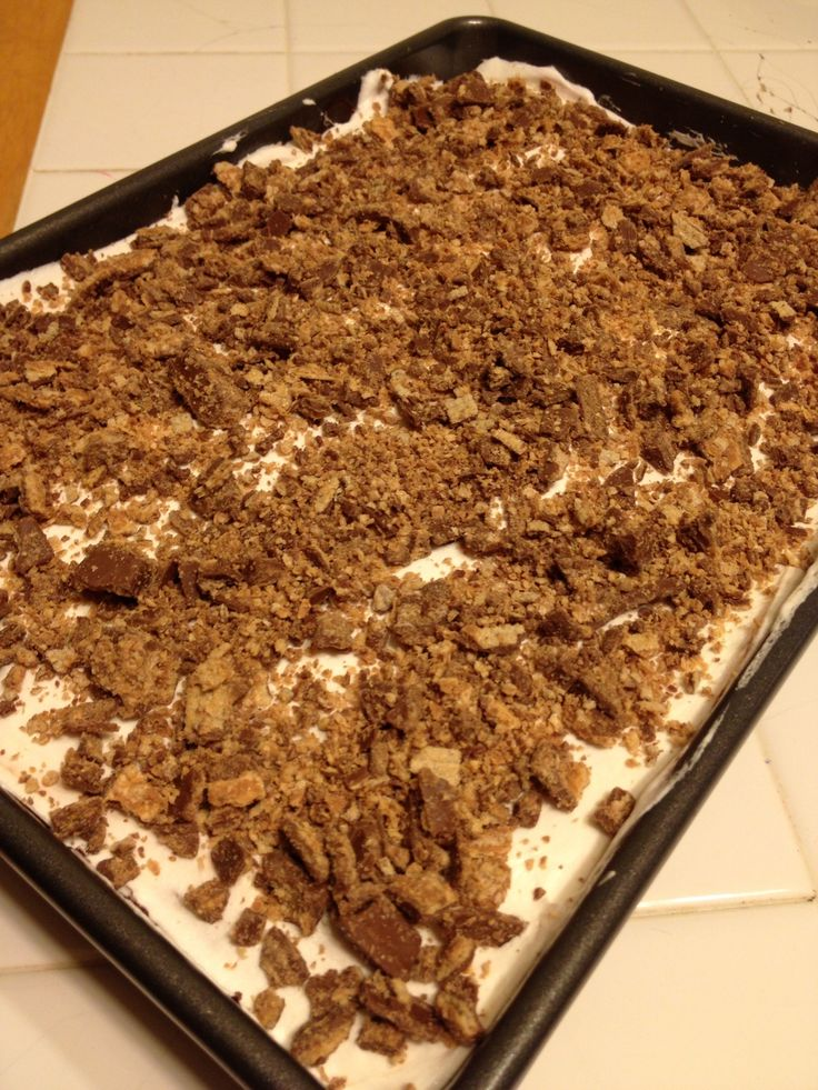Kit Kat Poke Cake on MyRecipeMagic.com