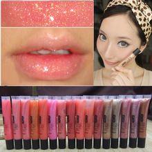Venda quente 9 Cores Novas Sexy Brilho Úmido Líquido Batons Lip Gloss de Longa Duração À Prova D' Água Lápis Labial Maquiagem alishoppbrasil