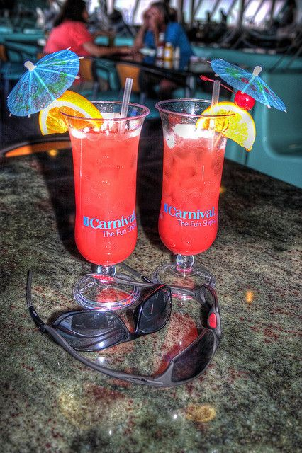 """Still slowly going through the hundreds of photos of our cruise as time permits.    This was taken in the Galveston port right after our muster drill in the Panorama Bar and Grill aboard ship. The drink was called """"The Fun Ship Special"""". It was our sai         I LOVE TO CRUISES WITH YOU"""