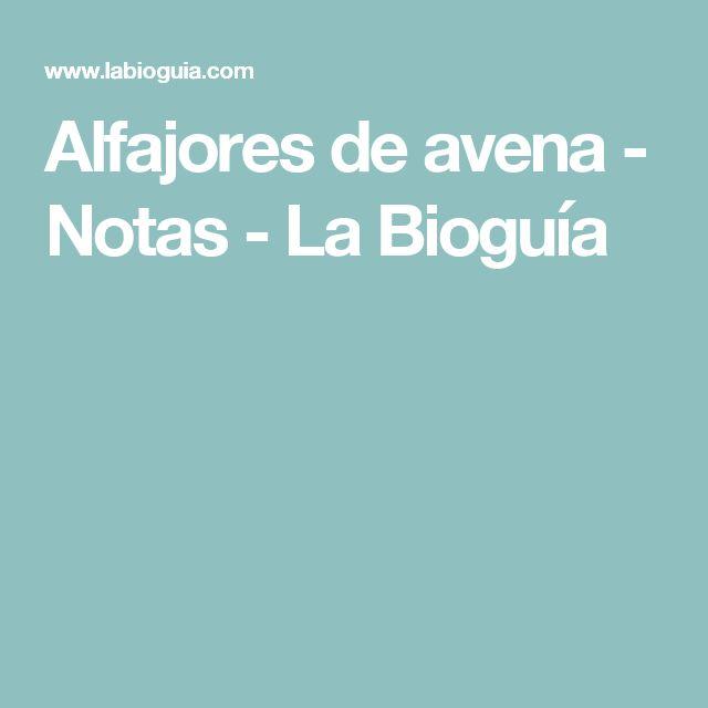 Alfajores de avena - Notas - La Bioguía
