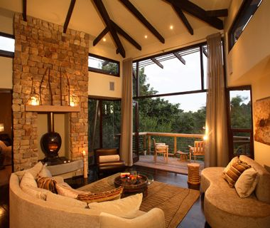 Tsala Treetop Lodge, Plettenberg Bay, South Africa Why It's Unique: Overlooking the Tsitsikamma Forest, this high-design stone-and-glass lodge counts 10 secluded tree-house suites, each with floor-to-ceiling bedroom windows, a log fireplace in the living room, a private deck, and an infinity-edge pool.