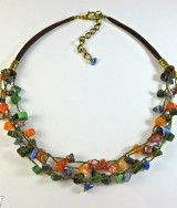 #semipreciousnecklace, #crochet