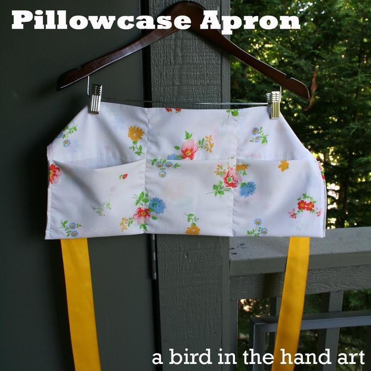 Vendor Apron from Pillowcase Tutorial ~ a bird in the hand art & 152 best Craft show display images on Pinterest   Display ideas ... pillowsntoast.com