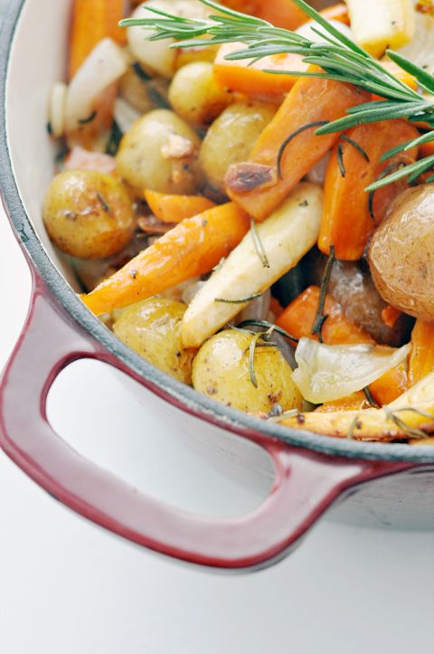Simple Rosemary Roasted Root Vegetables   Perfect for Thanksgiving   lark&linen