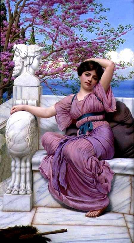"""Lassitude"" -- by John William Godward (British, 1861–1922)"