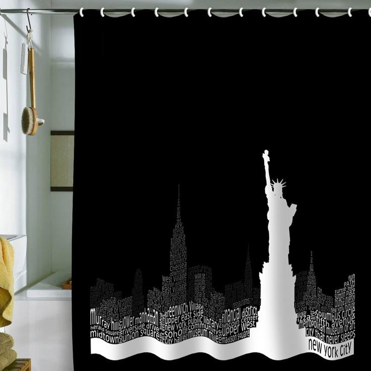 Restudio Designs New York Skyline 4 Shower Curtain