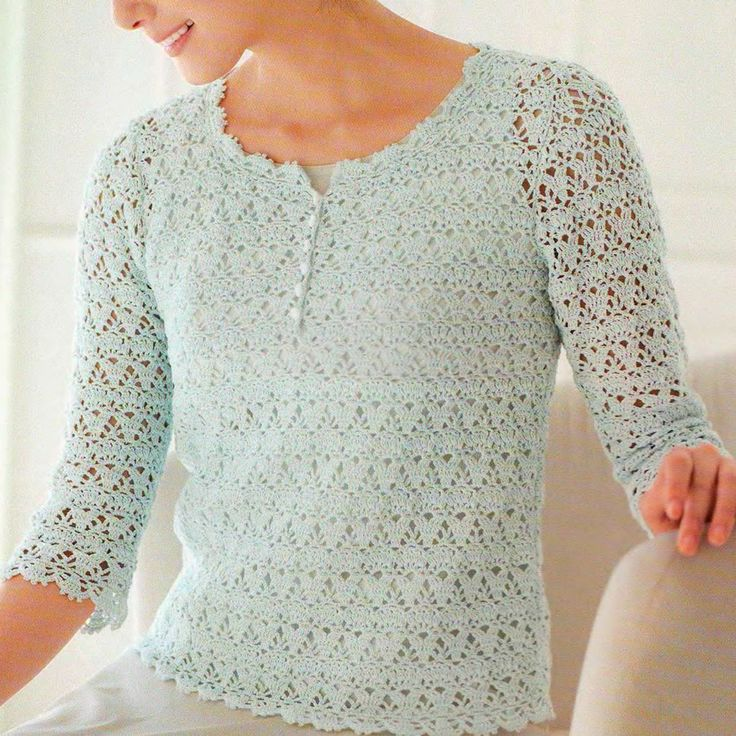 Вязаный крючком пуловер (Crocheted sweater)