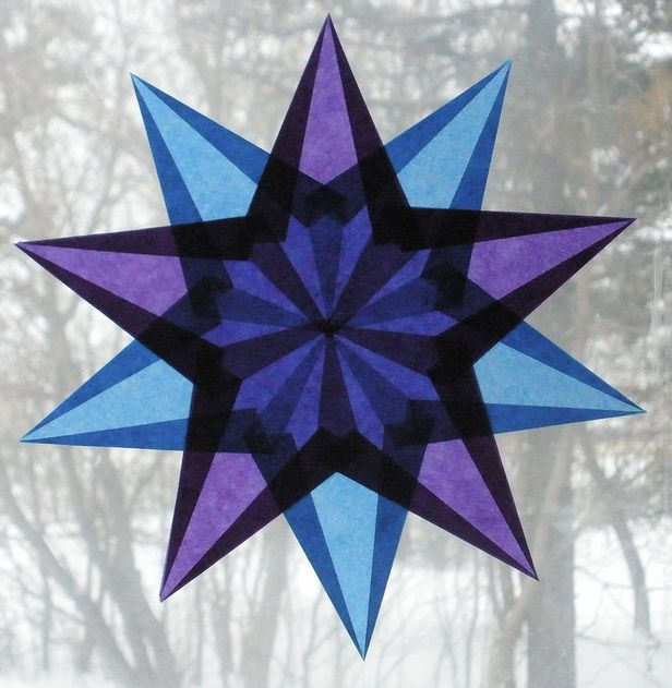 Advent ~ Week One: The Light of Stones ~ Blue and Purple Window Star
