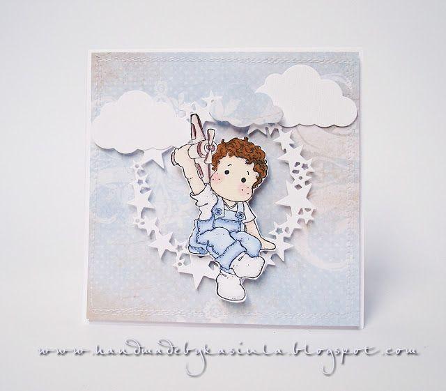 Tilda Magnolia card /Edwin