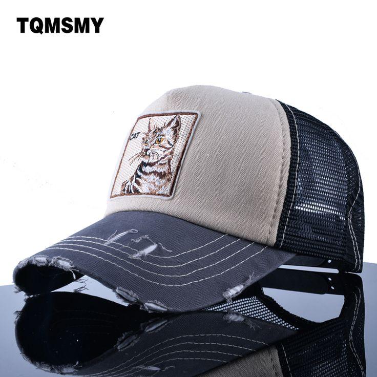 TQMSMY Embroidery Cat Trucker Cap men Snapback caps Breathable Mesh Baseball Cap Women sun Hats For Men Unisex Hip Hop Casquette #Affiliate