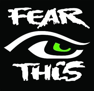 Seattle Seahawks 12th Man Fear This Eye Vinyl Decals Sticker 2 Two ...