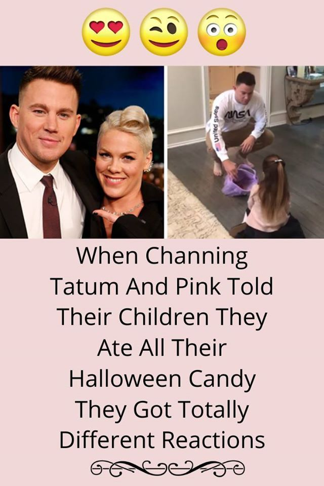 2020 Ate Halloween Candy When Channing Tatum And Pink Told Their Children They Ate All